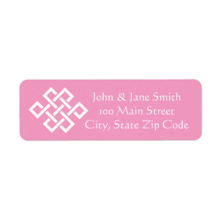 Chinese Elegance in Petal Pink Address Label