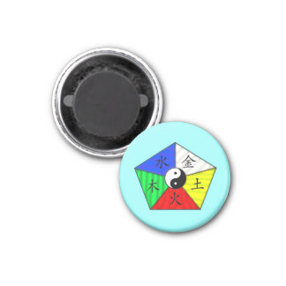 Chinese Elements 3 Cm Round Magnet