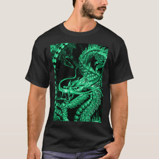 Chinese Emerald Emperor Dragon Art T-Shirt