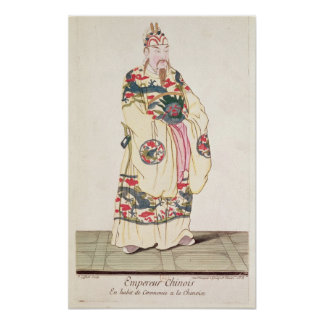 Chinese Emperor in Ceremonial Costume Poster