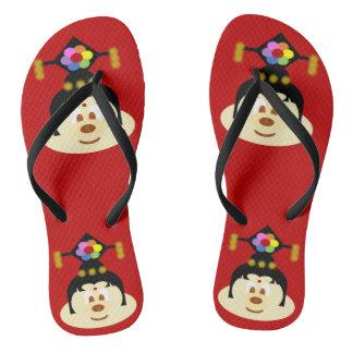 Chinese Female Hat 鮑 鮑 - Adult Slim Flip Flop