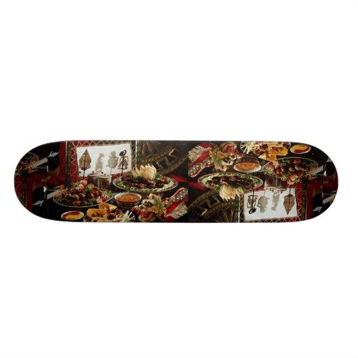 Chinese festive dinner plates skate board deck