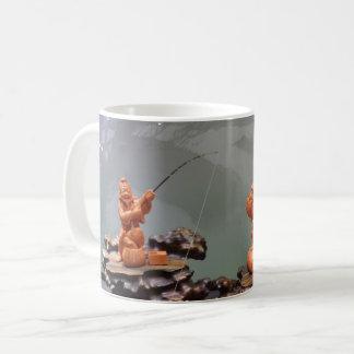 Chinese Fisherman White Coffee Mug