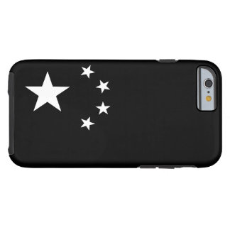 Chinese Flag Black And White Tough iPhone 6 Case