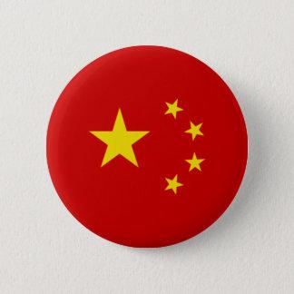 Chinese Flag Emblem 6 Cm Round Badge