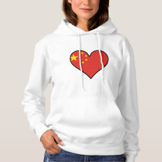 Chinese Flag Heart Hoodie