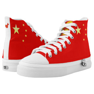 Chinese flag high tops