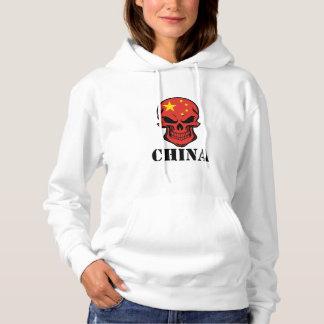 Chinese Flag Skull China Hoodie