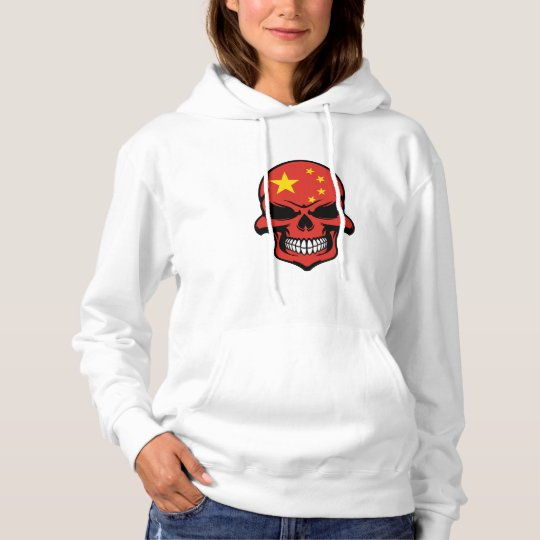 Chinese Flag Skull Hoodie