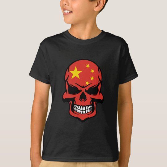 Chinese Flag Skull T-Shirt