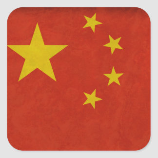 Chinese flag square sticker