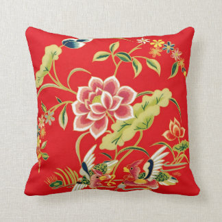 Chinese Floral Embroidery Design Cushion