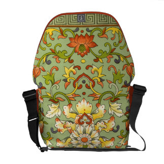Chinese Floral Jade Asian Flair Courier Bags