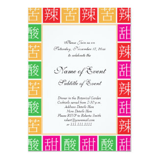 Chinese Food Flavors Colorful Proverb Card