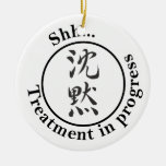 """Chinese for """"Silence"""" Door Hangers Christmas Ornament"""