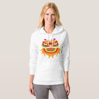 Chinese Fortune Character Womens Hoodie