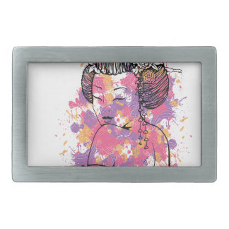 chinese girl vintage design belt buckles