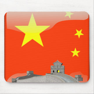 Chinese glossy flag mouse pad