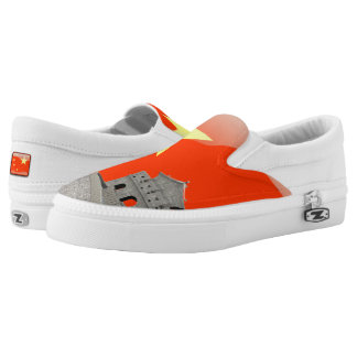 Chinese glossy flag Slip-On shoes