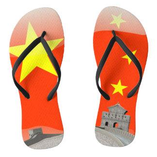 Chinese glossy flag thongs