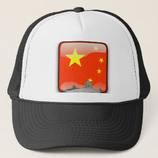 Chinese glossy flag trucker hat