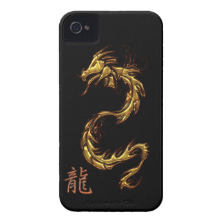 Chinese Gold-look Dragon Blackberry Case