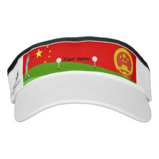 Chinese golfer visor