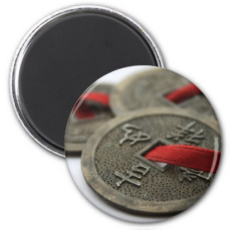 Chinese Good Luck Coins 6 Cm Round Magnet