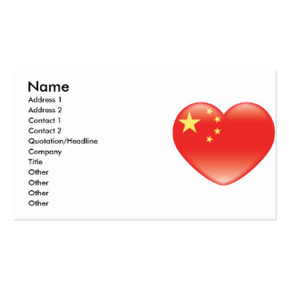 Chinese_heart_flag Pack Of Standard Business Cards