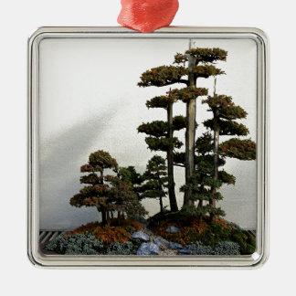 Chinese Juniper Bonsai Trees Metal Ornament