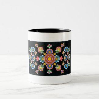 Chinese Kazakh Design 06 Two-Tone Coffee Mug