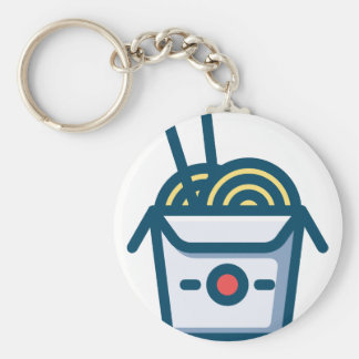 Chinese Kung Pao Noodles Key Ring