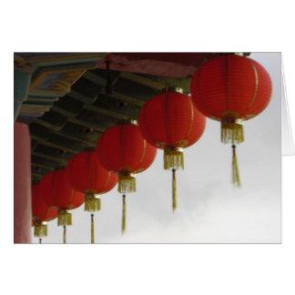 Chinese lanterns greeting cards