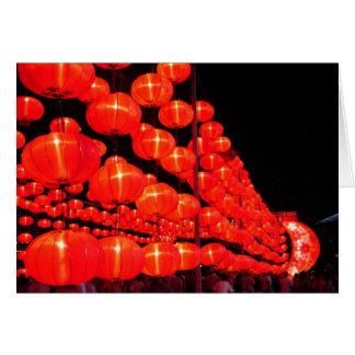 Chinese Lanterns Greeting Card