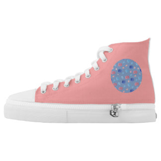 Chinese Lanterns High Top Shoes Printed Shoes