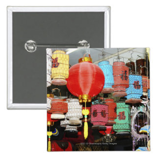 Chinese lanterns in China 15 Cm Square Badge