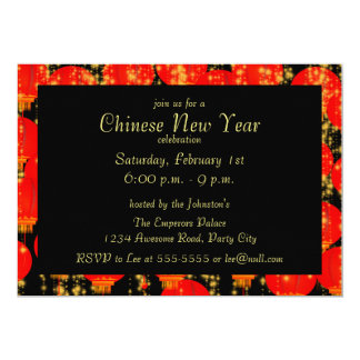 "Chinese Lanterns Invitation 5"" X 7"" Invitation Card"