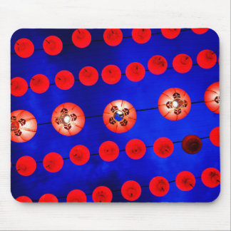 Chinese lanterns mouse pad