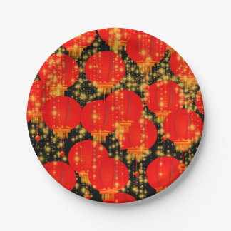 Chinese Lanterns Paper Plate