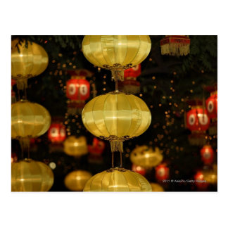 Chinese lanterns postcard