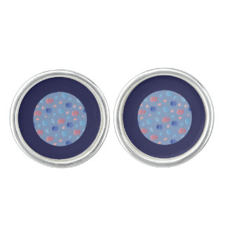 Chinese Lanterns Round Cufflinks
