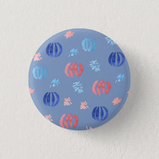 Chinese Lanterns Small Round Button