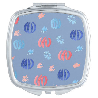 Chinese Lanterns Square Compact Mirror