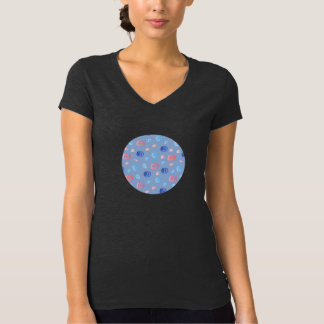 Chinese Lanterns Women's Jersey V-Neck T-Shirt