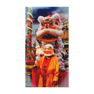 Chinese Lion And The Lion Master Canvas Print