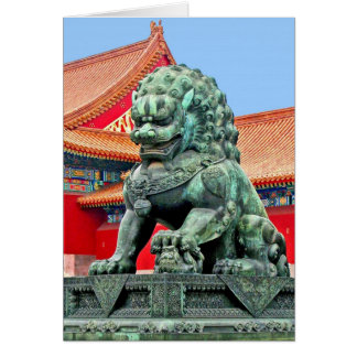 Chinese Lion Note Card