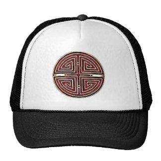 Chinese Longevity Symbol Mesh Hat