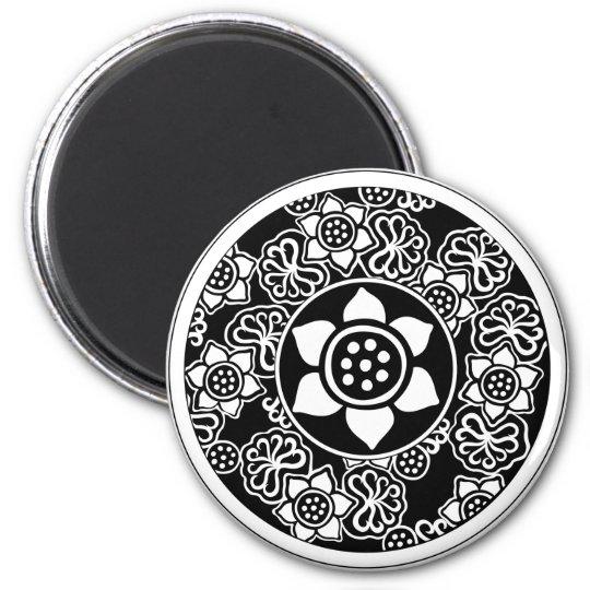 Chinese Lotus Design Magnet