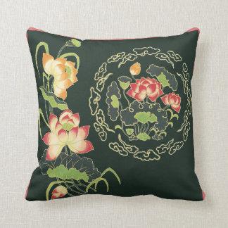 Chinese Lotus Flower Pillow