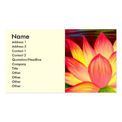 Chinese Lotus Water Lily Flower Art - Multi Pack Of Standard Business Cards